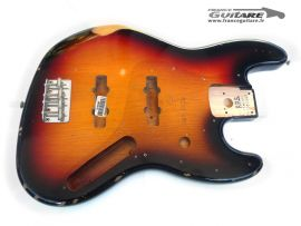 Corps Fender Jazz Bass Road Worn 62 Sunburst Relic