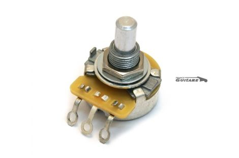 potentiomètre audio log CTS 500K axe plein pour telecaster
