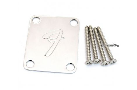 "Plaque Manche Strat Tele Fender 70s Logo ""F"" Fender"