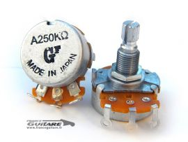 Potentiomètre Japonais Fender alpha 250K Audio log high friction