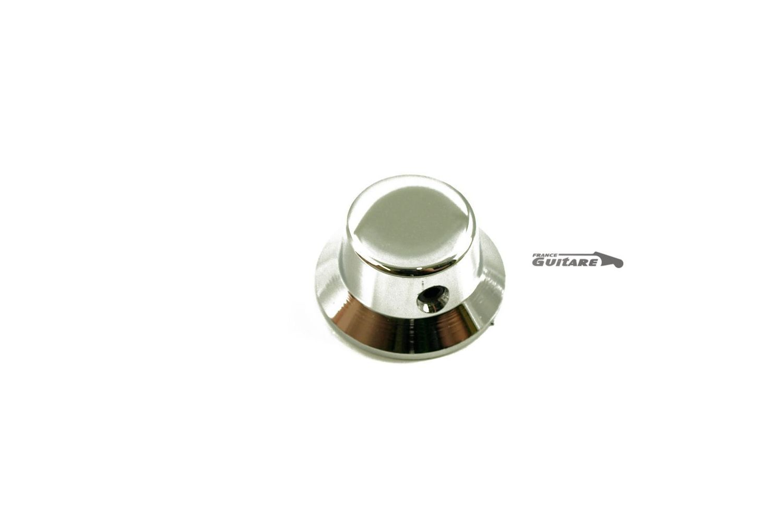 bouton de potentiom tre stratocaster laiton chrom pour axe fendu. Black Bedroom Furniture Sets. Home Design Ideas