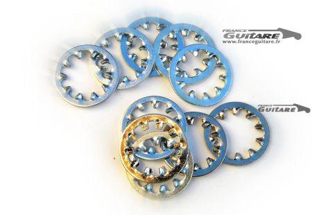 Lot de 10 rondelles dentées crantées pour potentiomètres audio CTS USA Fender