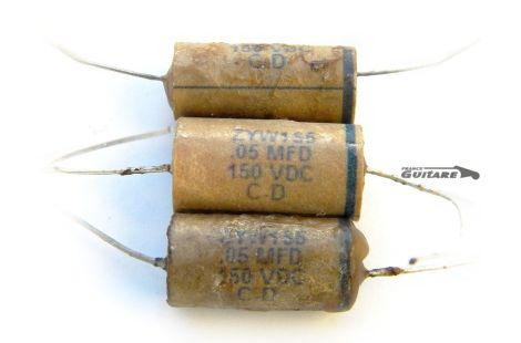 Condensateur Papier Huilé Vintage Repro Cornell Dubilier ZYW1S5 pour Telecaster