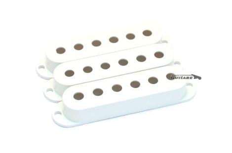 Capots plastique pour Micros Stratocaster Fender USA vintage white