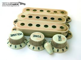 Kit Plastique Aged Relic Stratocaster Mint Green Micros et Potentiomètre