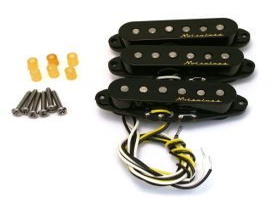Micros Fender Vintage Noiseless Stratocaster Capots Noirs