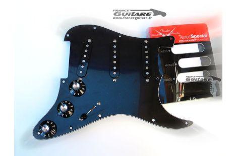 Pickguard précâblé assemblé Stratocaster American Special Black FSR