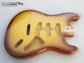 Corps Stratocaster Finition Honey Burst Gibson Closet Clean Relic