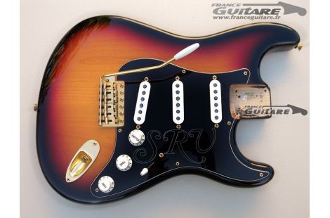 Corps Assemblé Fender Stratocaster Stevie Ray Vaughan Gold