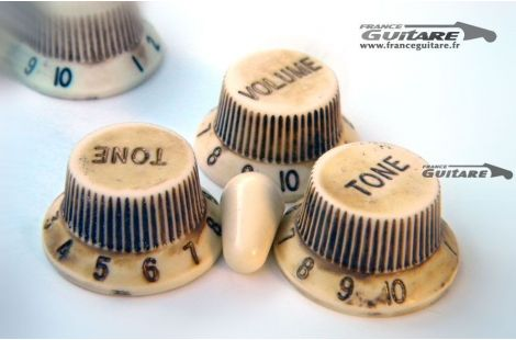 Boutons de Potentiomètres Relic Stratocaster Aged White