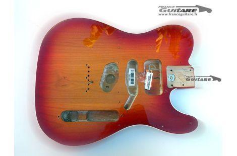 Corps Fender Telecaster American Deluxe Series Cherry Sunburst Binding