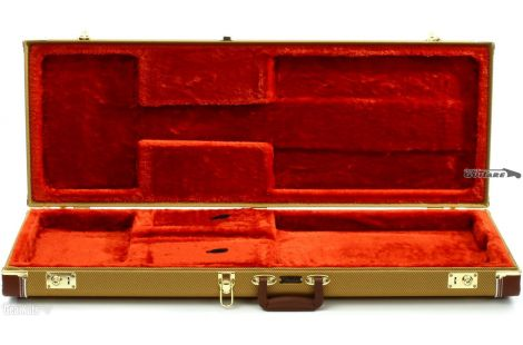 Etui Guitare Fender Strat et Tele Flight Case Tweed FSR Pro Series