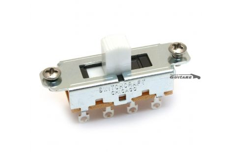 Sélecteur On Off On Slide Switchcraft bouton blanc pour mustang
