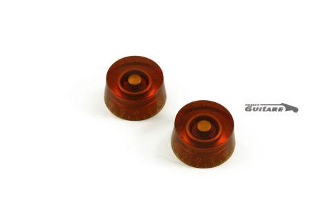 Paire de boutons Speed Knob Ambre Vintage pour Fender et Gibson