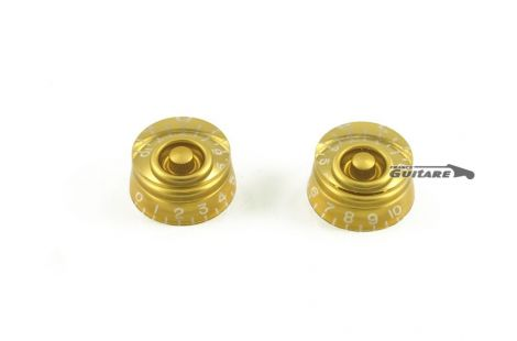Paire de boutons Speed Knob gibson fender Gold