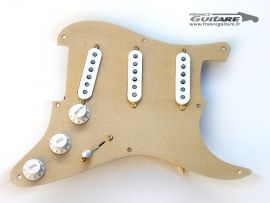 Loaded Pickguard Stratocaster Gold Anodized 54 Blend Circuit