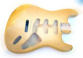 Corps Stratocaster American Vintage Butterscotch Burst Aged Relic SSS