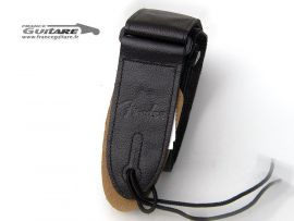 Sangle Cuir Noir Fender Logotype Monogrammed Leather Strap