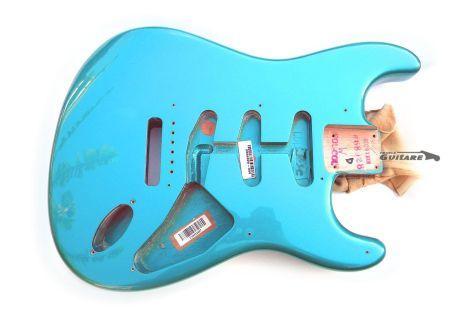 Corps Fender Stratocaster Artist Eric Johnson Lucerne Aqua Firemist