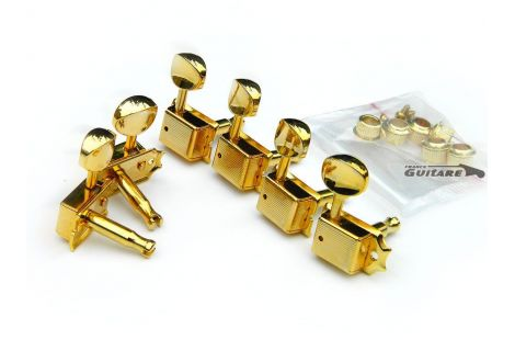 Mécaniques Fender Ping Gotoh Vintage Finition Gold pour Strat et Tele