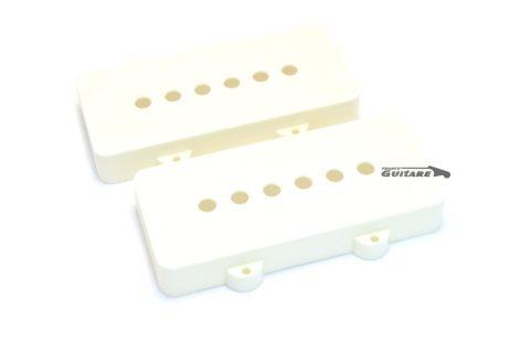 Paire de Capots micros Fender Jazz Master Aged White Noir ou Blanc