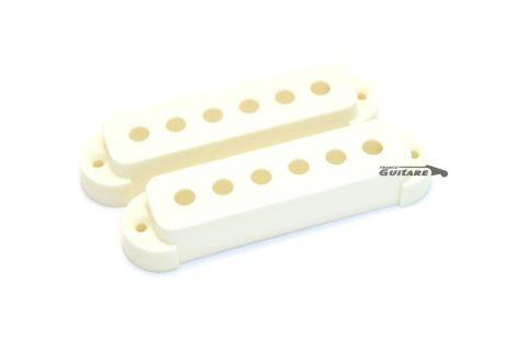 Paire de capots de micro Fender Jaguar plastique blanc noir ou aged white