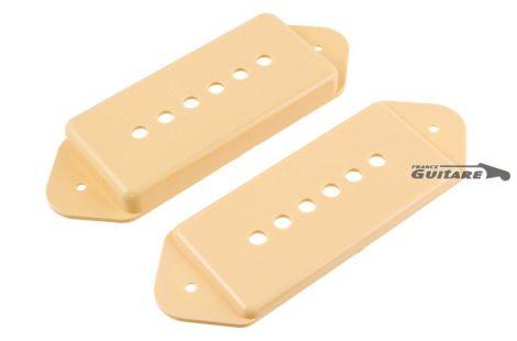 Paire de capots de micro Fender P90 plastique noir ou aged white