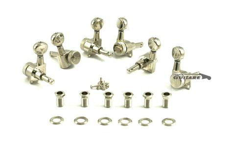 Mécaniques à blocage locking tuners Kluson Nickel Chrome pour Fender