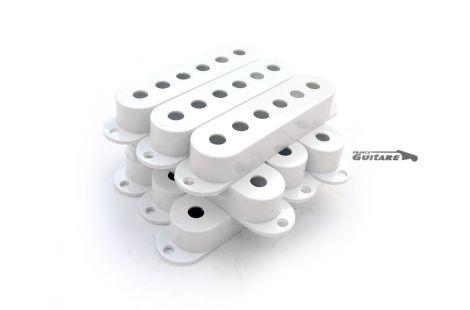 Lot de 9 capots de micros Fender Stratocaster Vintage White Blanc