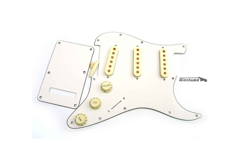 kit pickguard stratocaster american standard parchment et