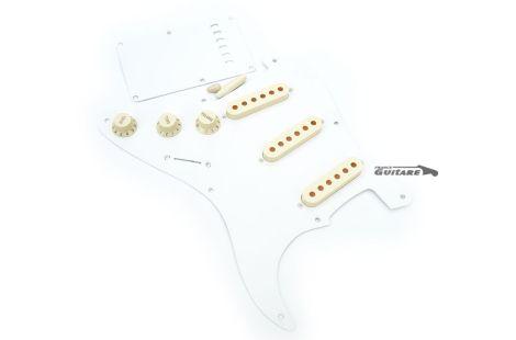 Kit Pickguard Fender Stratocaster 57 Vintage White