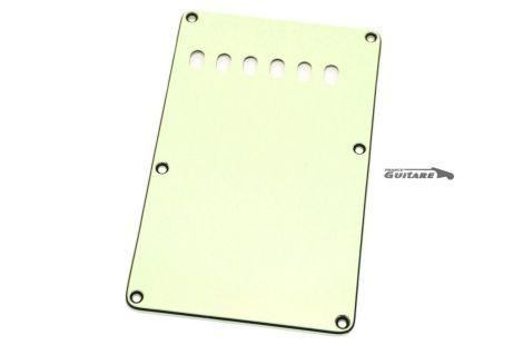 Plaque arrière Stratocaster cache tremolo 3 plis mint green 6 trous