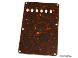 Plaque arrière Stratocaster cache tremolo 3 plis tortoise celluloide 6 trous