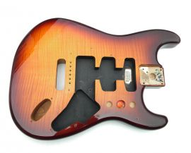 Corps Fender Strat Plus Mexico Tobacco SunBurst HSS Flame Maple Top
