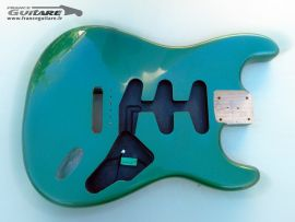 Corps Stratocaster Frêne Finition Nitro Candy Green Closet Clean