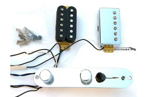 Kit Fender Telecaster HH American Std Humbucker avec plaque assemblée