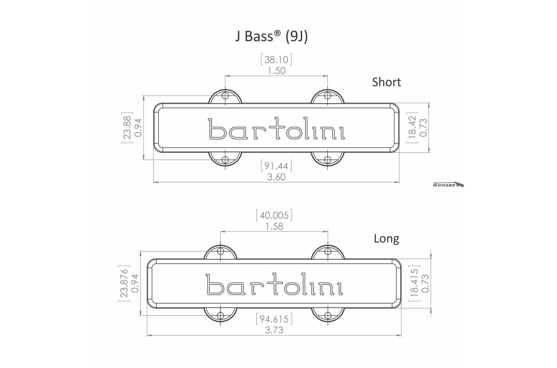 jeu de micros bartolini pour jazz bass standard fender usa