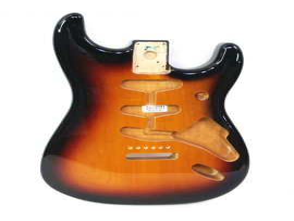 Corps Genuine Stratocaster Fender Classic 60s Sunburst Trois Tons