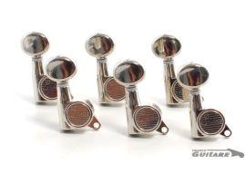 Mécaniques Strat et Tele bain d'huile Kluson modernes MK6LN bouton ovale