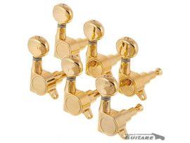 Mécaniques Strat et Tele modernes Kluson Gold MK6LG bouton ovale