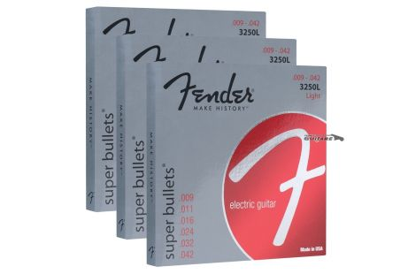 Cordes Fender guitare électrique Super Bullets laiton 3250