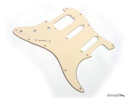Pickguard Stratocaster HSS American Deluxe Aged White Cream 3 plis