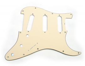 Pickguard Plaque Stratocaster Fender Old Style 1962 Aged White Cream