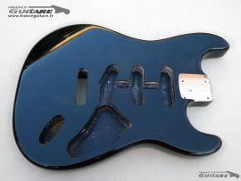 Corps Stratocaster Vintage Black Nitro Finish