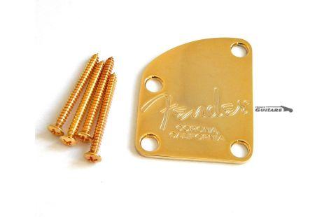 Plaque Fixation de Manche Fender Stratocaster Telecaster Deluxe Gold