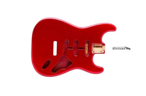Corps Stratocaster Allparts Vintage Candy Apple Red 60's Alder
