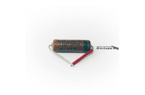 Condensateur Repro Papier Huilé Vintage Blue Strip Liutopia 047uf