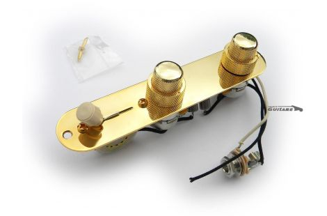 Plaque Telecaster Précâblée Gold potentiometres superposes