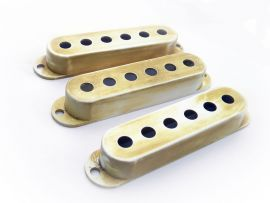 pickup cover vintage aged white Stratocaster relic
