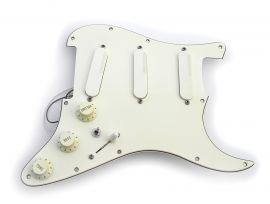 Loaded Pickguard original Fender Strat Plus Lace Sensor Gold TBX 1993